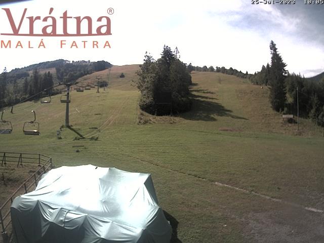 Webkamera: Vrátna - Paseky (záber z dolnej stanice lanovky)
